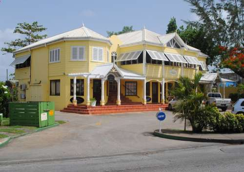 Building Shop Yellow Holetown Barbados Holiday