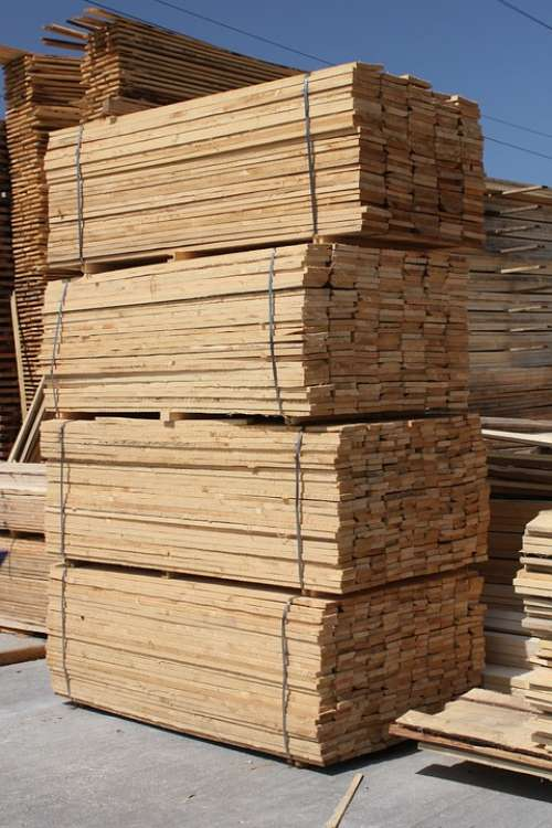 Building Fir Hardwood Lumber Materials Planks