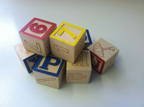 Building Blocks Toys Play Cubes Dices Wooden