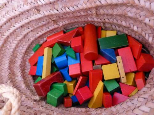 Building Blocks Basket Colorful