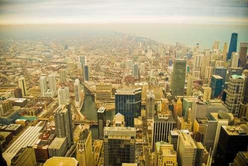 Buildings Chicago City Sky Tower