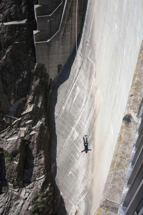 Bungee Jumping Dam Verzasca Ticino Switzerland