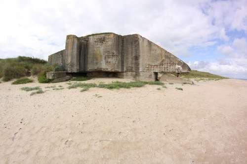 Bunker Beach France Normandy War World War Ii