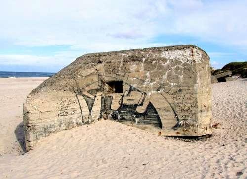 Bunker World War Ii Beach Nymindegab North Sea
