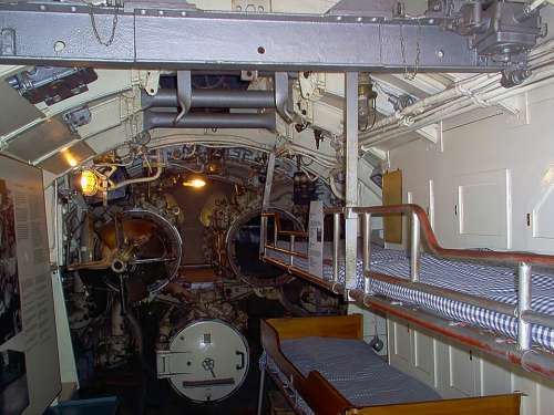 Bunks Beds Torpedo Tubes Submarine European Mink