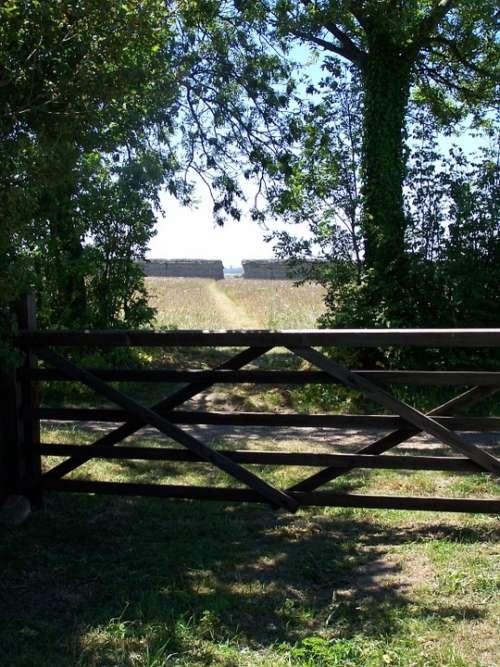Burgh Castle Norfolk Gate