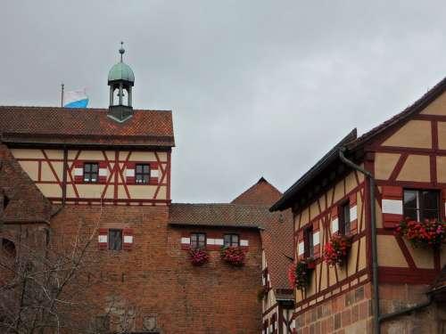Burghof Castle Imperial Castle Nuremberg Truss