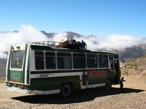 Bus Andes Travel Road Transportation Valley