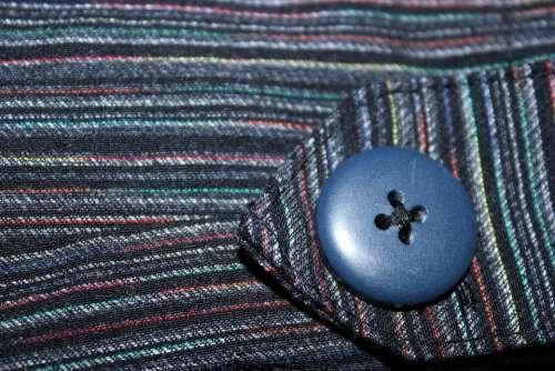 Button Stripe Cloth Textile Object Blue Button