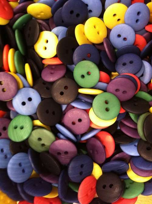 Buttons Colorful Smarties Button Colors Variation