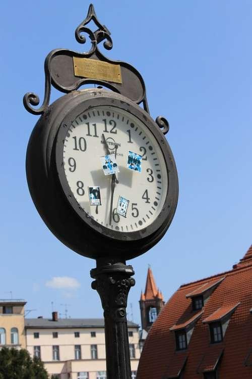 Bydgoszcz Clock Street Street Clock