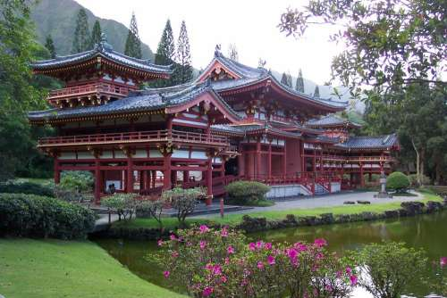 Byodo-In Temple Oahu Asian Chinese Temple Culture