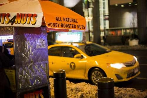 Cab Yellow Cab Taxi New York Transportation Street