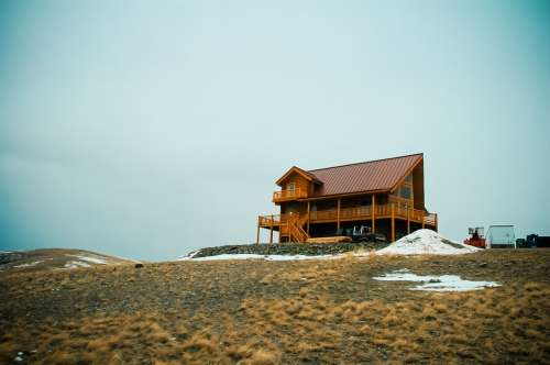 Cabin House Architecture Wood Wooden Building