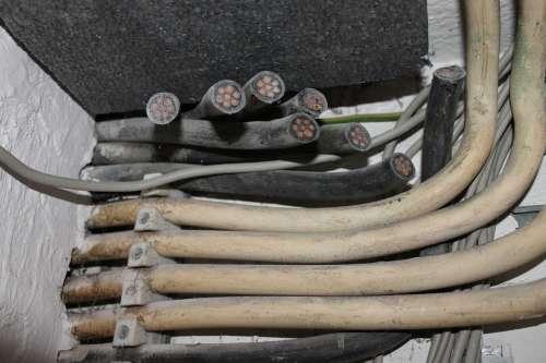 Cable Elektrik Site Power Lines Current Energy