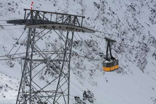 Cable Car Gondola Snow Oberstdorf Foghorn Winter