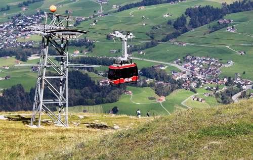 Cable Car Alpine Ebenalp View Appenzell