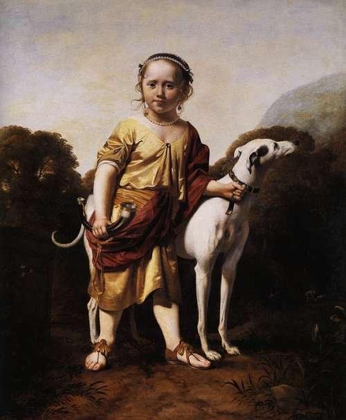 Caesar Van Everdingen Boy Dog Child Outside Art