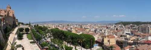 Cagliari Sardinia City Wall Historic Center Wall