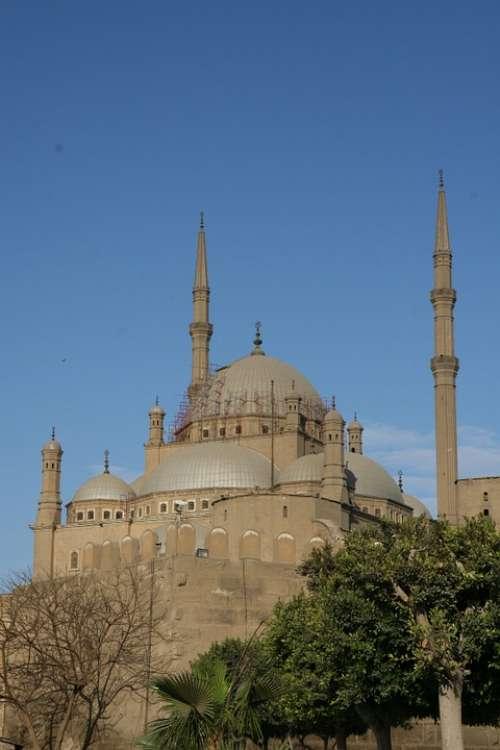 Cairo Egypt Building Famous Ancient Mosque