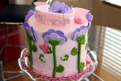 Cake Birthday Cake Sweet Beautiful Pink Birthday