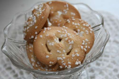 Cakes Spetsduk Sugar Bowl Sweet White
