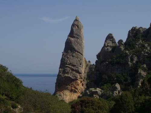 Cala Goloritze Sardinia Climb Pinnacle Rock