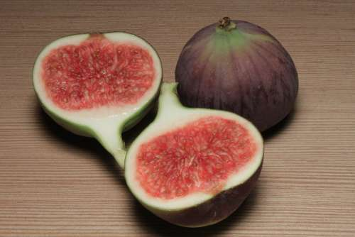 Calcium Fiber Fig Figs Fruit Half Slice Sliced
