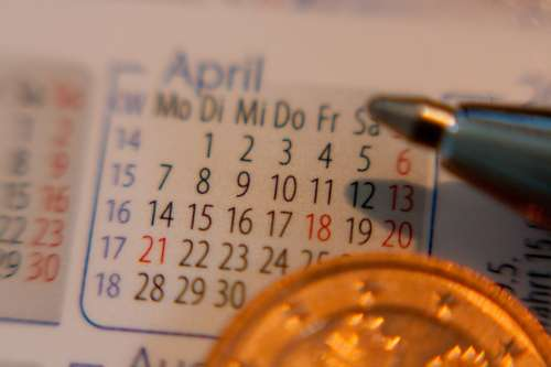 Calendar Date Time Pen Office Appointment