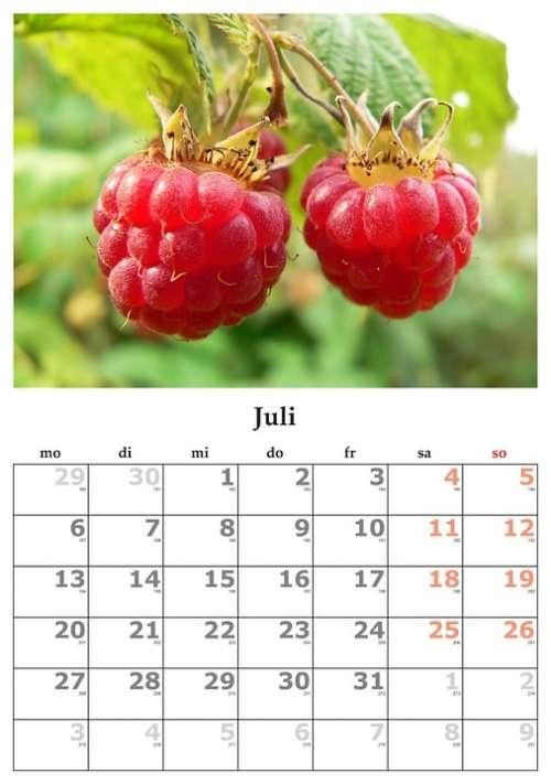 Calendar Month July July 2015
