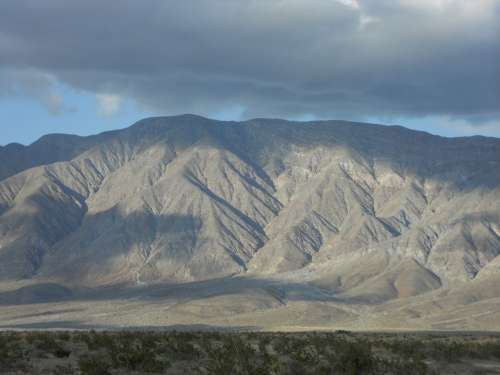 California Borrego Springs Mountains Skyline Clouds