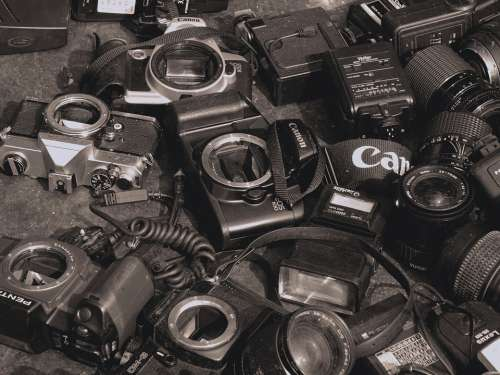 Cameras Used Old Photography Equipment Spare Parts