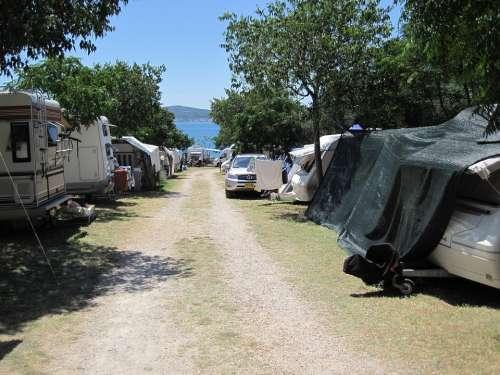 Camping Blue Sky Sea Croatia View Path