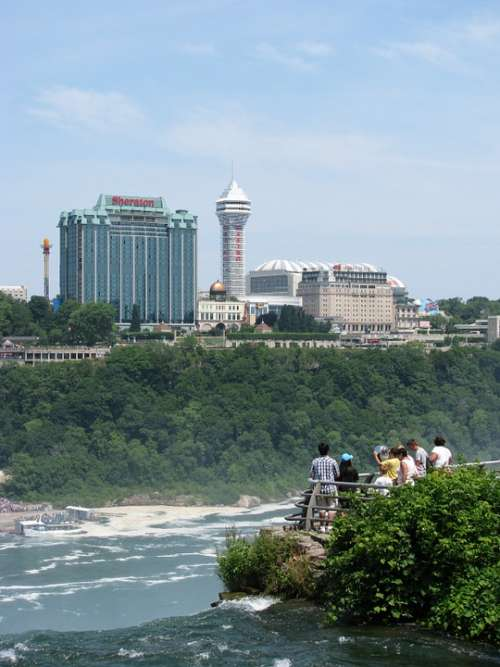 Canada River Waterfall Architecture Skyline City