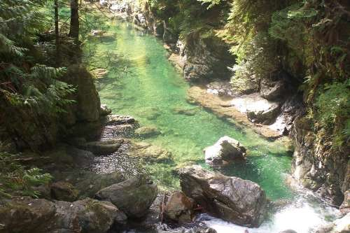 Canada Canyon River Rocks Water Landscape Nature
