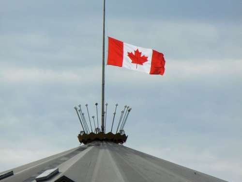 Canadian Flag Half Mast Canada