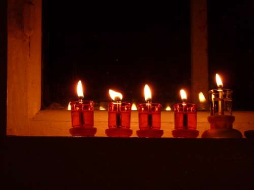Candle Red Night Flame