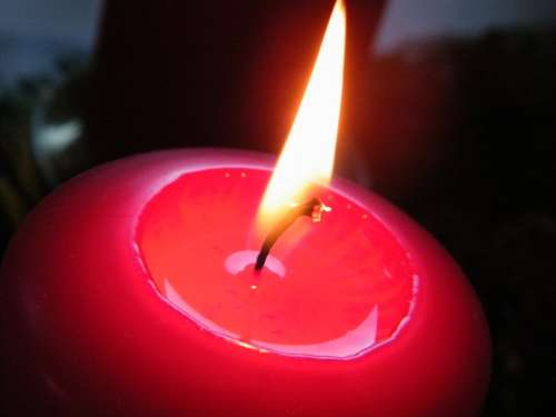 Candle Red Wax Wax Candle Heat Flame