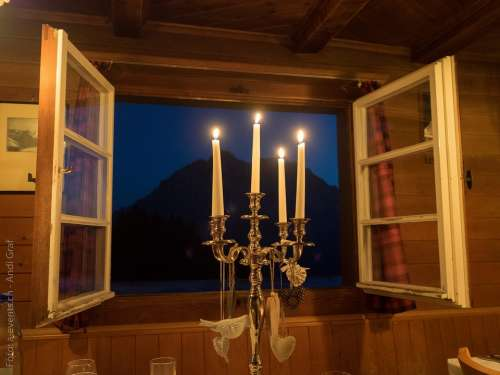 Candlelight Window Candle Holders Romantic