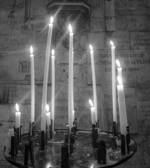 Candles Church Cathedral B N Palencia Light