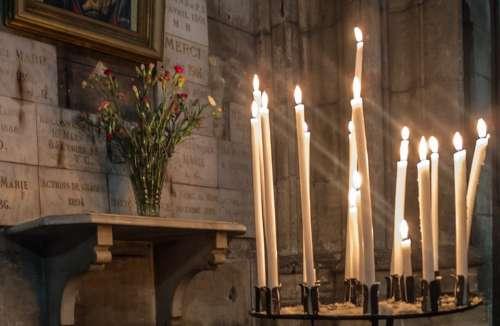 Candles Church Cathedral B N Palencia Light