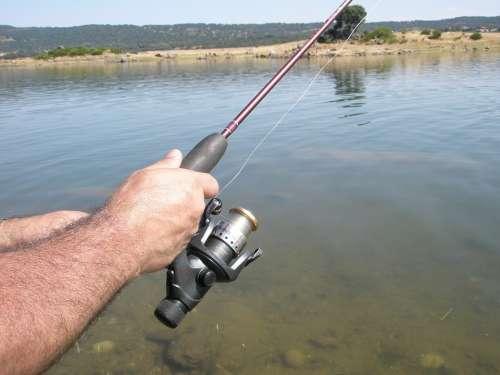 Cane Of Fishing Reel Water