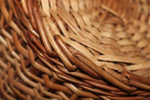 Cane Bamboo Basket Woven Pattern Texture Handmade