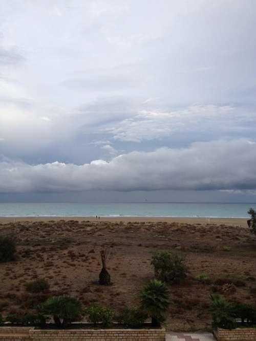 Canet De Berenguer Valencia Beach Horizon Costa