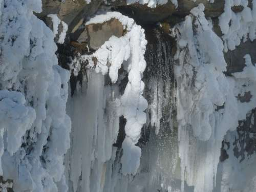 Canim Falls British Columbia Canada Frosted Canyon