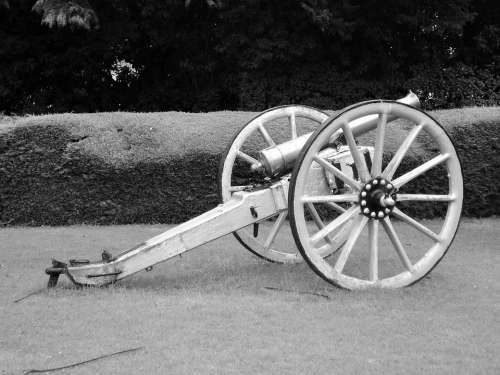 Cannon War Military History Vintage Antique