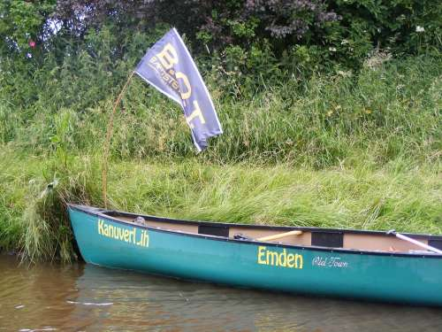 Canoeing Boat Paddle Tour Flag More
