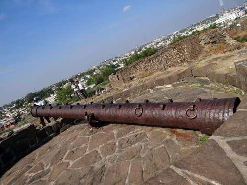 Canon Large Citadel Fort Gulbarga Karnataka India