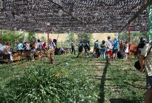 Canopy Net Summer Sun Shadow People