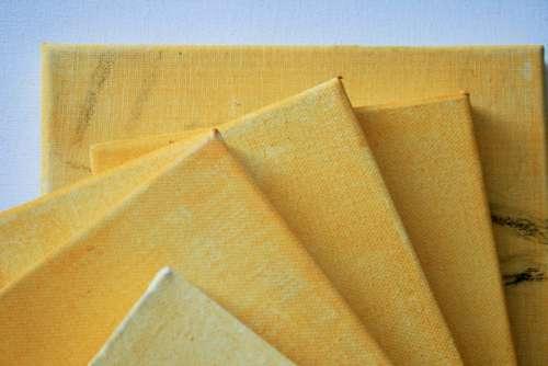 Canvas Streched Art Prepared Wash Yellow Ochre